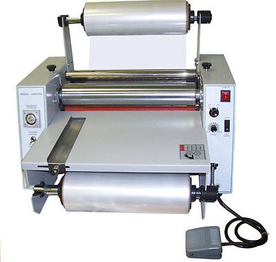 """New 15"""" Tabletop Hot Roll Laminator Single/Dual Sided Thermal & Cold Laminating"""