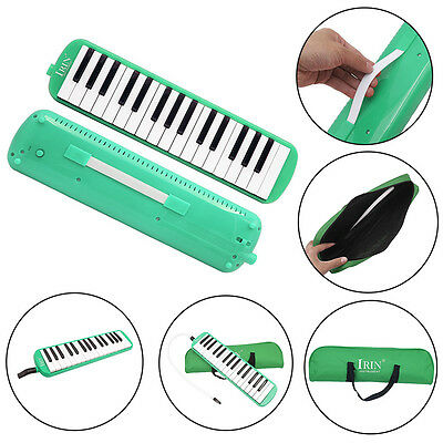 32 Piano Keys Melodica Musical Instrument forBeginners w/ Carrying Bag Green