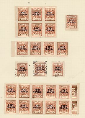 Poland Port Gdansk Overprint Polish Post In Danzig Old Time Collection