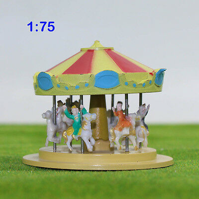 GY60075 1PC Model Train Railway Carousel Playground toys 1:75 Spur OO Karussell