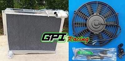 56mm Aluminum Alloy Radiator+Fan For MG MGB GT/ROADSTER 1977-1980 1977 1978 1979