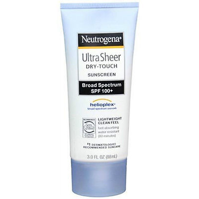 Sunscreen Neutrogena Ultra Sheer Dry-Touch SPF 100+ 3oz Helioplex Broad EXP 2019