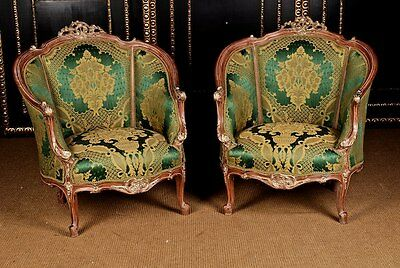 B-Dom-69 French Bergere in the Louis Quinze Baroque Style