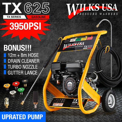 Petrol Pressure Jet Washer - 8.0HP 3950psi - AWESOME POWER - WILKS-USA TX625i