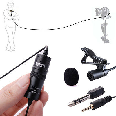 BOYA BY-M1 Lavalier Clip Microphone for Samsung S4 S5 iphone DSLR Camera LF480