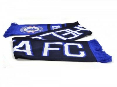 Chelsea FC Football Club Blue White Black Jacquard Nero Fan Scarf Gift Official