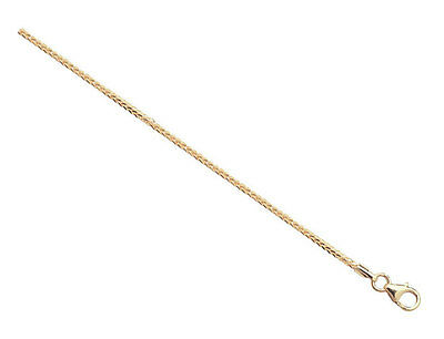 """9ct Yellow Gold 10"""" Spiga Ankle Chain 1.80g"""
