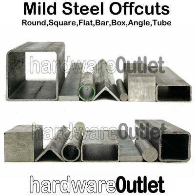 MILD STEEL OFF CUTS BOX Section ANGLE Iron FLAT ROUND SQUARE Bar Bundle Be Quick