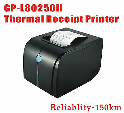 POS Thermal Receipt Printer 80mm Auto Cutter USB/Ethernet/Serial High speed