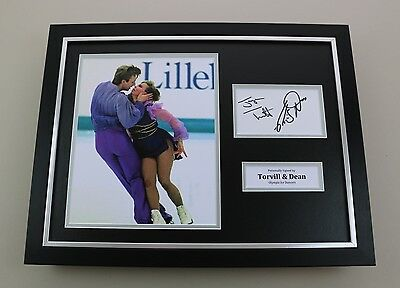 Jayne Torvill & Christopher Dean Signed Photo Framed 16x12 Autograph Display