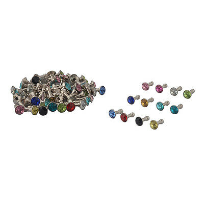Faux Rhinestone Decor Earphone Jack Anti Dust Ear Cap Assorted Color 80pcs