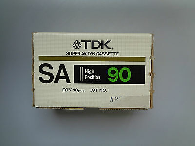 10 Vintage Audio Cassette TDK SA 90 From 1983 - Fantastic Condition !!