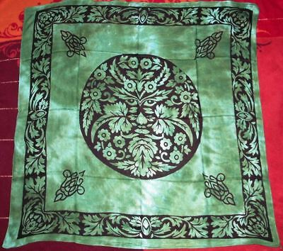 Green Man Altar Tarot Cloth