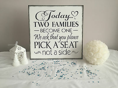 Wooden Wedding Signs Reception Church Decoration Seating Shabby Chic Vintage