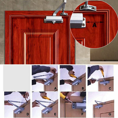 65-85KG Aluminum Commercial Door Closer Two Independent Valves Control Sweep OY