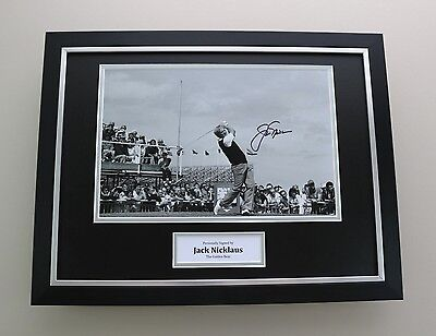 Jack Nicklaus Signed Photo Framed 16x12 Masters Autograph Memorabilia Display