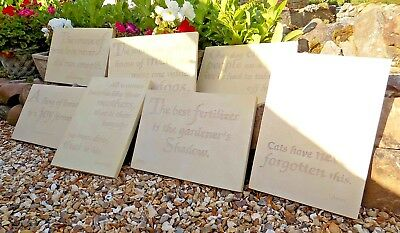 Marble Stone Effect Large Wall Plaque Sign for Home / Garden Words Wisdom Saying