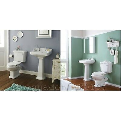 Traditional Bathroom Suites WC Basin Pedestal & Tap Options