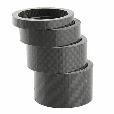 "Carbon headset spacer set of 4 1 1/8"".  5mm 10mm 15mm 20mm 3K weave gloss"
