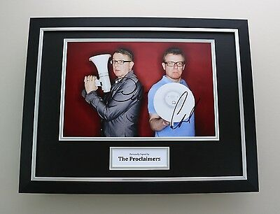 Charlie & Craig Reid Signed Photo Framed 16x12 The Proclaimers Autograph Display