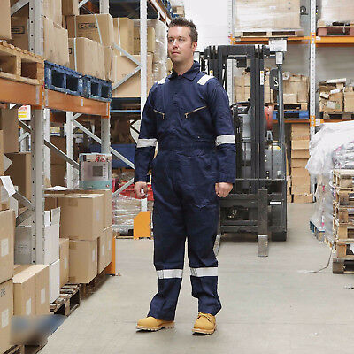 Walls 100% Cotton Work Wear Overalls Coverall Mechanic Boiler Suit Navy RRP £32