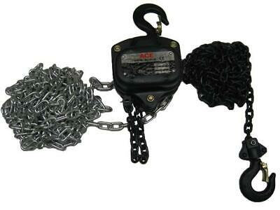 "0.5 Ton x 6 Metre Chain Block - 500KG Lift Manual 1/2"" Hand Tackle Hoist Brake"