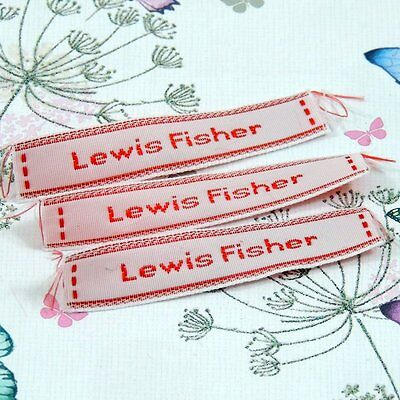 72 Personalised Sew In Name Labels Tapes Back To School