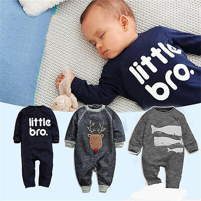 Toddler Newborn Infant Baby Boys Bodysuit Romper Jumpsuit Outfits Kids Clothes