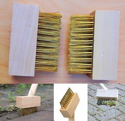 Drive/Patio Wire Brush Heads Block Paving Cleaning Moss Weeds