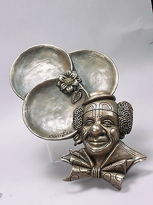 Bronze Clown Candy Dish     Factory Direct From Ron Lee