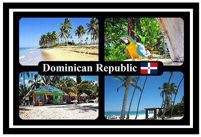 Dominican Republic - Souvenir Novelty Fridge Magnet - Flags / Sights - New/gift