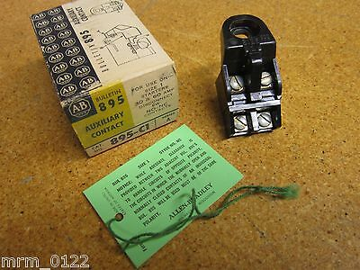 Allen Bradley 895-C1 Ser A Auxiliary Contact For Size 1 Starters 30&60Amp NEW
