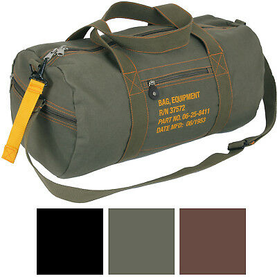 Cotton Canvas Adjustable Travel Equipment Shoulder Bag
