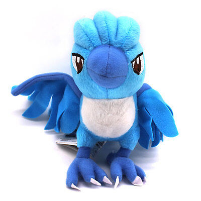 "4"" Freeze Articuno Pokemon Plush Soft Toy Stuffed Legendary Bird Doll Kids Gift"