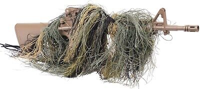 Camouflage Ghillie Lightweight Sniper Rifle Wrap Cover