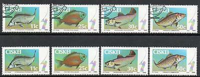Ciskei 1985 Used/cto & Mnh Fish Sets