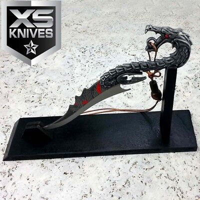 "7"" Fixed Blade DRAGON Decorative DAGGER Fantasy + Display Stand Collectible GIFT"