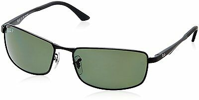 Ray-Ban RB3498 002/9A Black Frame Polarized Green 64mm Lens Sunglasses