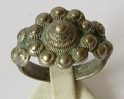 Amazing Large And Huge Post-Medieval Silver Ring  # 39B