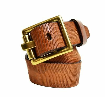True Religion Womens Tan Textured Leather Belt Size Small Womens Msrp 128