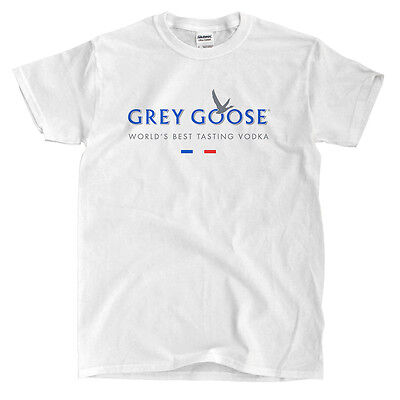 Grey Goose Vodka White T-Shirt - Ships Fast! High Quality!