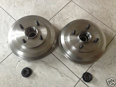 Ford Fusion 1.4,1.6 02 Two Rear Brake Drums/fitted Bearings+Lock Nuts  Brand New