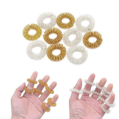 5/10Pcs Finger Massage Ring Acupuncture Acupressure Health Care Body Massager