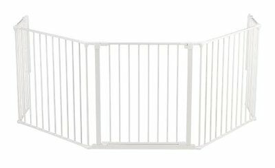 BabyDan Hearth Gate  Configure  Extra Large, White
