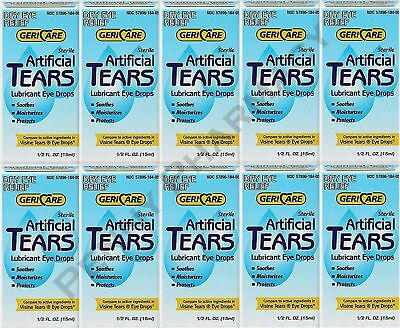 GeriCare Artificial Tears Lubricant Solution 15 ml Human or Animals ( 10 pack )