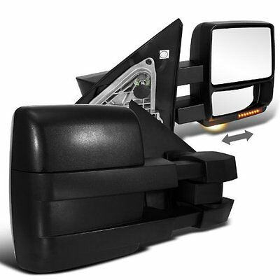 For 07-14 F150 Pickup Side View Mirrors Power Heated Towing Led Turn Signal Pair