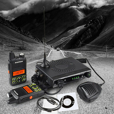 Baofeng MINI Mobile Car/Vehicle 15W+ Two Way Ham Radio UHF400-470MHz VOX 20CH