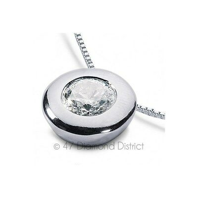 1.68ct G-SI3 VG Round Certified Diamond 950PL Bezel Solitaire Pendant with Chain