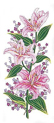 Grafitec Printed Tapestry/Needlepoint Canvas – Pink Lillies