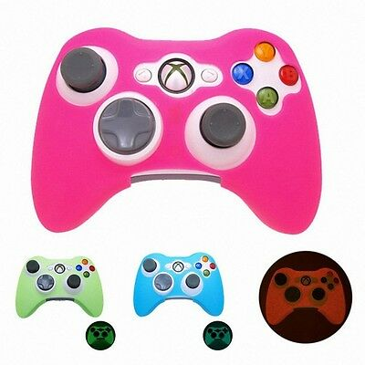 Soft Silicone Case Skin Protector Glow in Dark Cover For Xbox 360 Controller 630